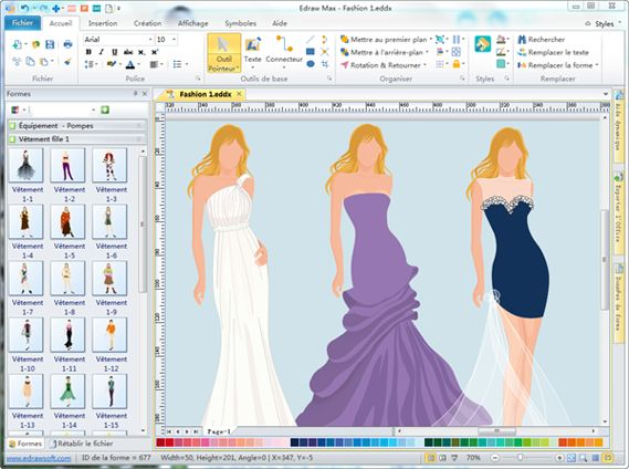 edraw max tutorial Fashion Design  YouTube
